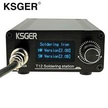 KSGER T12 Soldering Station V2.0 STM32 OLED ดิจิตอลคอนโทรลเลอร์อุณหภูมิไฟฟ้า Soldering Irons Stings T12 K B2 BC2 D24 เคล็ดลับ