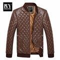 BNY 2016 Mens Clothing Весна Кожаная Куртка Мужчины мужская Кожа Оптовая Торговля Производители Черное Платье Куртка