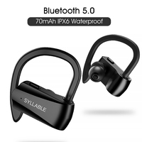 SYLLABLE D15 70mAh headset Battery Capacity with Dual microphone handsfree calls Syllable D15 Factory Extra ear cap USB cable