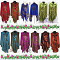 New Hot Fashion Women Lady Double Side Butterfly Silk Animal Pashmina Scarf Wrap Shawl