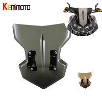 KEMiMOTO For YAMAHA MT 09 MT09 2017 2018 2019 Windshield Windscreen With Mounting For YAMAHA MT 09 FZ 09 2017 2018 2019