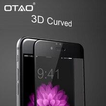 3D Полное Покрытие Закаленное Стекло Защитная Пленка Для iPhone 6 Плюс 6s Плюс 9 H Углеродного Волокна Полное покрытие экрана Anti-Scratch