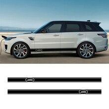 2 шт. виниловые наклейки для автомобиля с боковой юбкой, наклейки для автомобиля, Стайлинг для Land Rover Discovery Range Rover Sport freelander