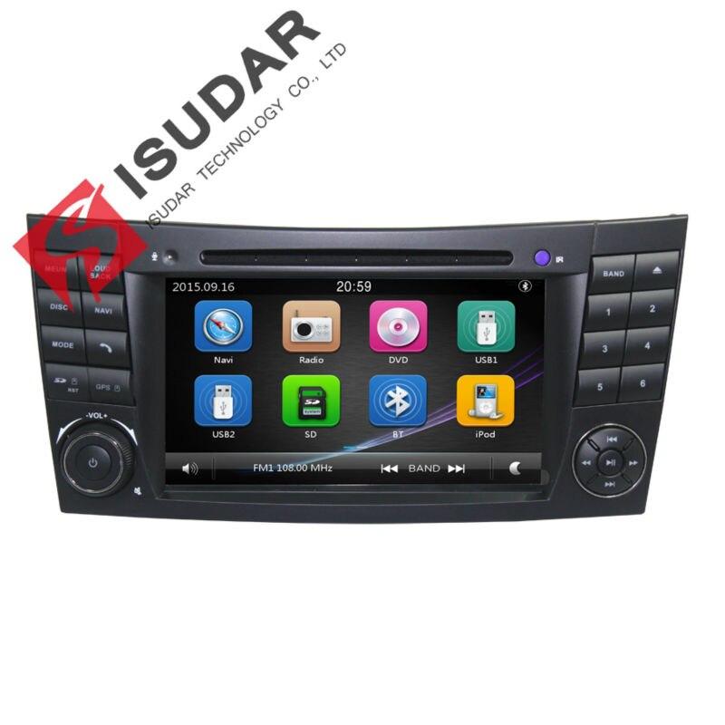 Isudar Car Multimedia Player 2 Din Car Radio GPS For Mercedes/Benz/E-Class/W211/E300/CLK/W209/CLS/W219/G-Class/W463 Canbus DVR 380mm car steer wheel cover for mercedes benz w463 w169 w251 w164 w219 w209 w230 slk clk slr carbon fiber