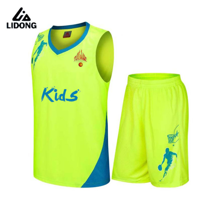 c3f59eb8c0ee Kids basketball jerseys Boys breathable custom basketball uniforms boys  cheap DIY school basketball training suits set 2017 new