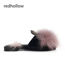 Fashion 2019 New Casual Slipper Flip Flop Sandal Womens Slippers Zapatos Mujer Ladies Slip On Sliders Fluffy Faux Fur Flat Shoes цена
