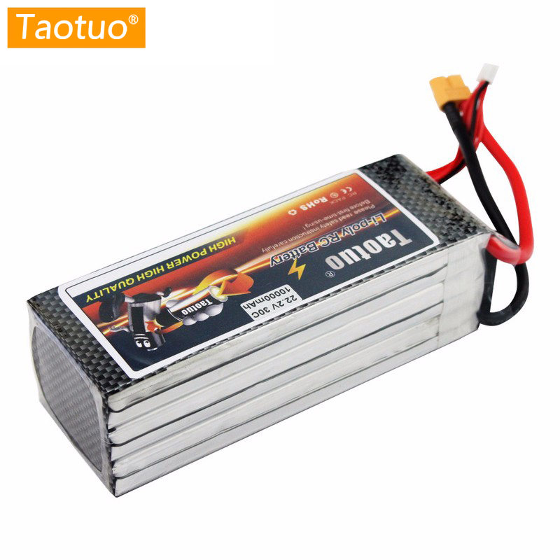 Taotuo Lithium Lipo Battery 22.2V 10000mAh 6S 30C XT60 T For Dji Phantom S900 S1000 RC Helicopter Quadcopter Drone Bateria for dji phantom s900 s1000 rc quadcopter battery 22 2v 10000mah 6s 30c xt60 plug li polymer lipo battery fpv parts bateria