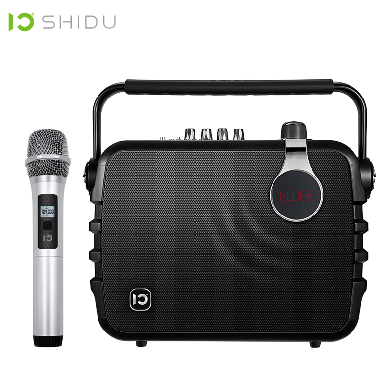 SHIDU 60W Portable Voice Amplifier Bluetooth 4 0 ICloud Control Karaoke Audio Speaker With UHF Wireless