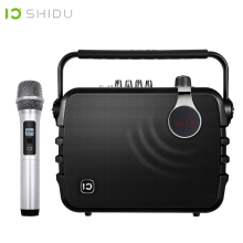 SHIDU 60W Portable Voice Amplifier Bluetooth 4.0 ICloud Control Karaoke Audio Speaker With UHF Wireless Microphone For Speech K5 shidu ultra wireless portable uhf mini audio speaker usb lautsprecher voice amplifier for teachers tourrist yoga instructor s615