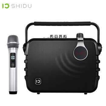 SHIDU 60W Portable Voice Amplifier Bluetooth 4.0 ICloud Control Karaoke Audio Speaker With UHF Wireless Microphone For Speech K5 - DISCOUNT ITEM  20% OFF All Category