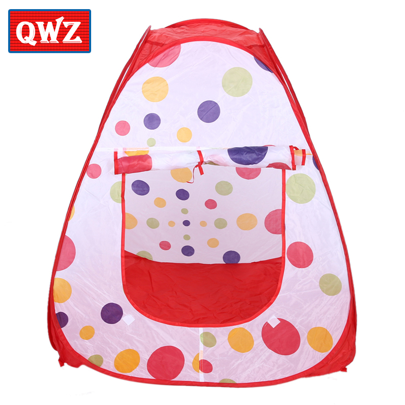QWZ Baby Toy Tent Children Indoor Outdoor Playing House Large Portable Ocean Balls Great Gift Games Play Folding Tents
