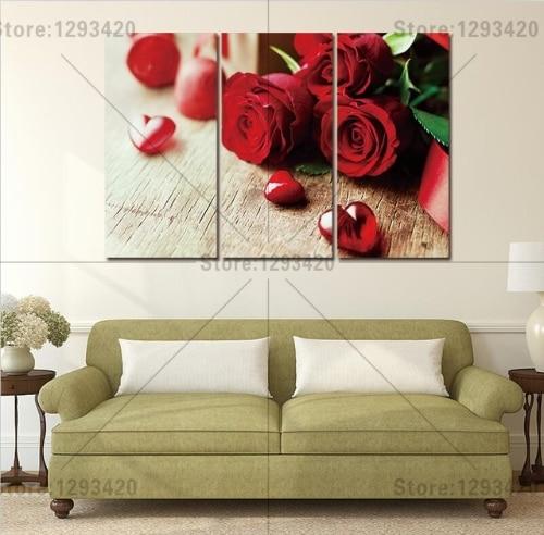 5D diament haft kwiaty placu diament zestawy pełne dekoracyjne diy diament malarstwo Red Rose 3 sztuk diament cross stitch