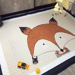 Europese stijl Thuis Tapijt 100% katoen Cartoon vloer tapijten antiskip woonkamer tapijt 150*200cm zachte kinderen spelen mat hond jongen tijger