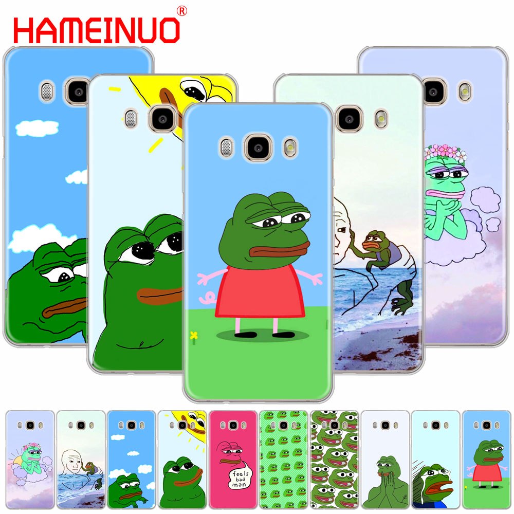 HAMEINUO Cute Frog Meme Animal funny cover phone case for Samsung Galaxy J1 J2 J3 J5 J7 MINI ACE 2016 2015 prime image