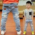 Frete grátis, Ano novo, primavera e outono novas crianças jeans meninos selvagens do bebê crianças moda jeans crianças calças de brim
