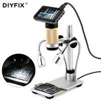 DIYFIX HDMI микроскоп длинный объект Расстояние Цифровой 10 300X USB микроскоп для мобильного телефона ремонт паяльник BGA SMT часы
