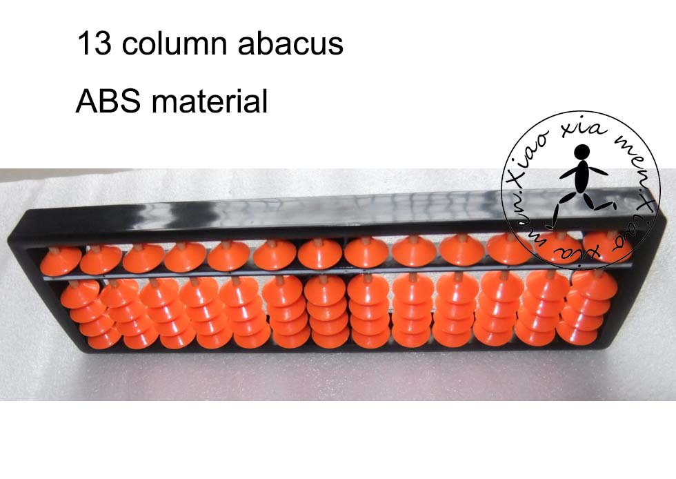 Painstaking 13 Column Plastic Abacus Professional Chinese Soroban Tool In Mathematics Education X065 Smoothing Circulation And Stopping Pains Math Toys
