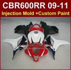 100% FIT  red fairings for HONDA CBR 600RR 09 10 11 CBR 600 RR fairing kits 2009 2010 2011 cbr600rr +7gifts