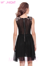 MOONIGHT 2017 Summer Dress New Women Match Sequined Flower Sleeveless Party Dresses Female Sexy Club Wear Clothing