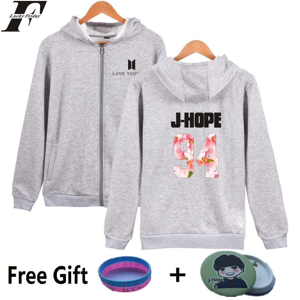 BTS Love Yourself Hoodies Men Winter Cotton Pullovers Bangtan Album Kpop Sweatshirt Men  ...