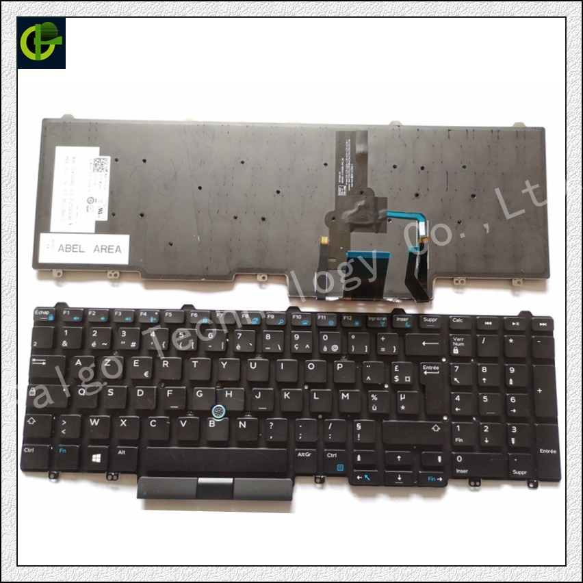 French Azerty Backlit <font><b>keyboard</b></font> for <font><b>DELL</b></font> Precision ( <font><b>3520</b></font> , 7520 , 7720 ) M3520 M7520 M7720 FR image