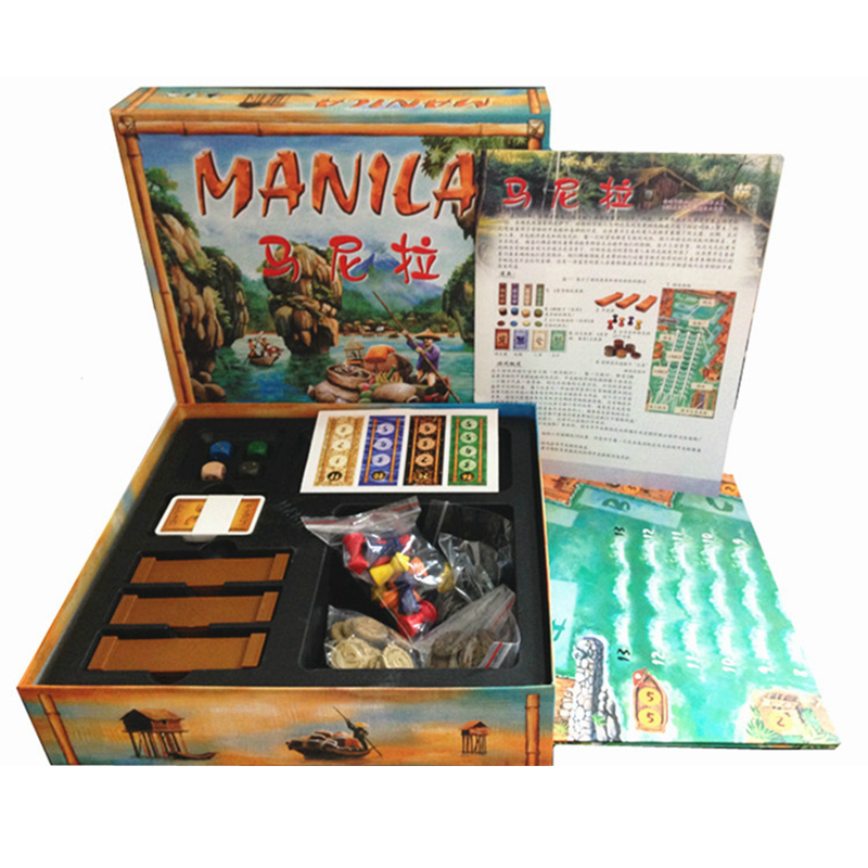 Manila Chess Board Game For 3-5 People Play Poker Size 57 * 87 Table Toys Game For Family And Party