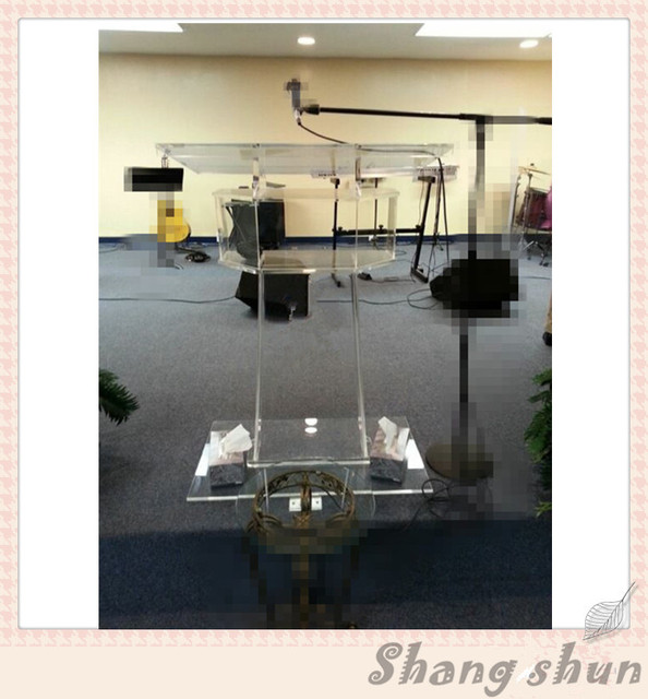 Clear acrylic church piano display stand lectern podium church pulpit / high quality acrylic church lectern