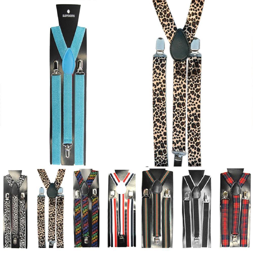 2017 15 Style 2.5*100cm Unisex Skinny Thin Slim Suspenders Elastic Clip-on Braces Solids brand New