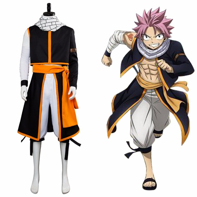 Anime Fairy Tail Final Season Cosplay Etherious Natsu Dragneel Costume Full Set