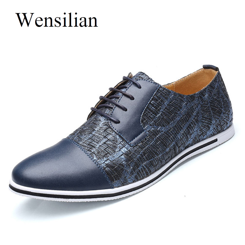 Fashion Summer Breathable Men Flats Oxford Casual Shoes Lace Up Mixed Colors Luxury Brand Plus Size 38-47 Male Shoes