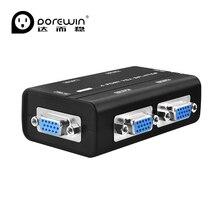 Dorewin 4 портов vga splitter дубликатор 1 вход 4 выход vga switch pc s-vga видеосигнала монитор splitter дистрибьютор