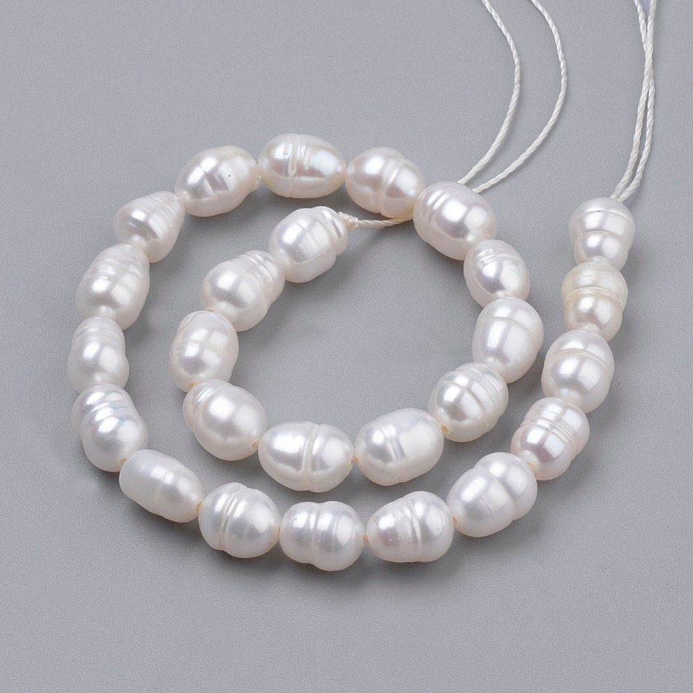 Pandahall Beads: PandaHall 1Strand 6~7x5~5.5mm Natural Pearl Loose Beads