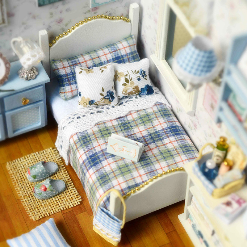 Diy Furniture Room Mini Box Dollhouse Doll House Miniature: Diy Wooden Miniature Doll House Furniture Toy Miniatura