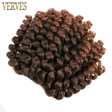 Crochet braids hair 1 piece 75g/pack 8 inch synthetic ombre braiding hair extentions VERVES Havana Twist braids(China)