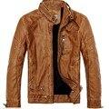 New Arrival Punk Mens Slim Fit PU Leather Fleece Jacket Motocycle BIKER RIDING Coat Stylish Top Quality Jackets Male jaqueta