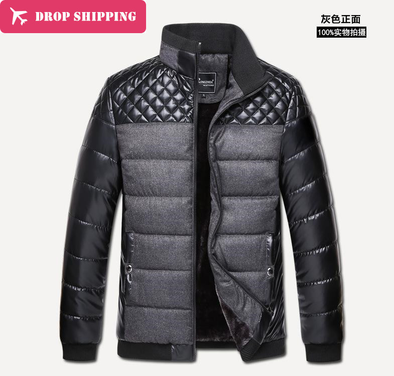 ФОТО New Arrival Asian Size Men's Jacket, Men's Stand Up Collar Cotton Padding Thicken Jacket , Warm Thick Jackets Coat ,rz01