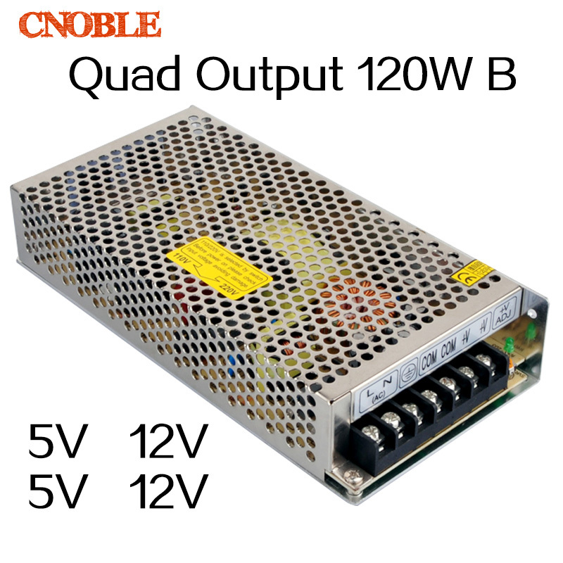 120W B Quad output 5V 12V -5 -12v Switching power supply AC to DC ce ccc ac dc dual output 12v 120w power supply