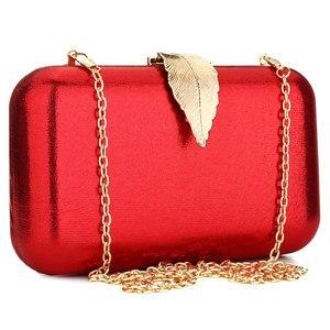 Image 3 - 赤のクラッチバッグクリスマスイブニングバッグ女性のスパンコールチェーンショルダーバッグ女性パーティー結婚式クラッチ財布ポシェットファム
