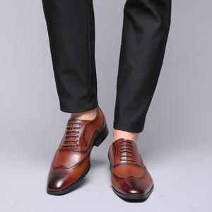 Image 5 - 2019 taille 38 48 hommes chaussures formelles bureau social concepteur mariage luxe élégant mâle chaussures habillées # SY R7878