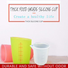 250ml / 100ml Silicone food Measuring Cup jug Graduated Beaker Cooking Baking Kitchen Measure tools