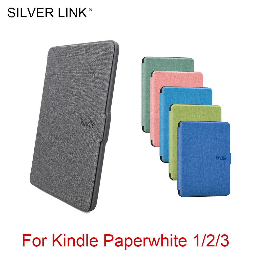 SILVER LINK Soft Silicon Protective Cover 3 Case For Kindle Paperwhite 1/2/3