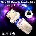 Caliente micro usb magnético adaptador de cable del cargador del enchufe del metal para android samsung lg envío libre y ventas al por mayor