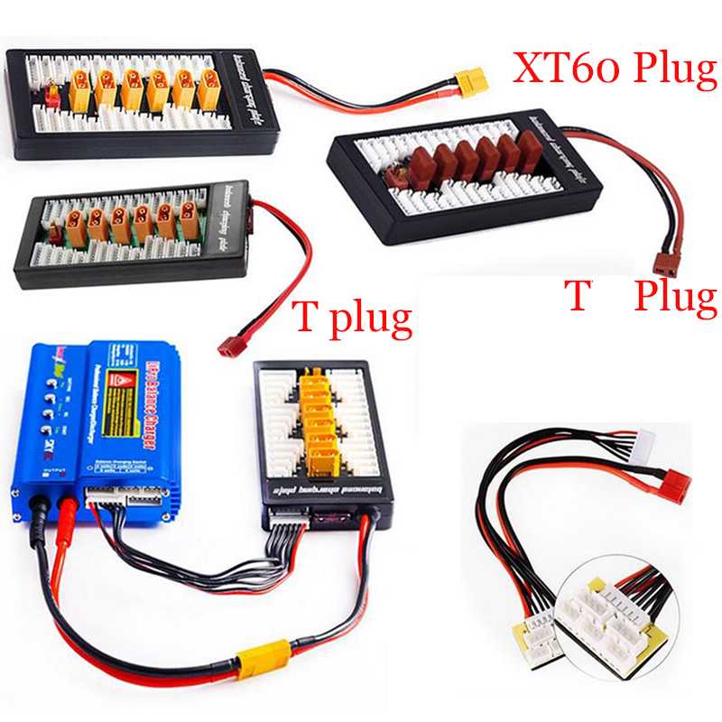 Multi 2S-6S Lipo Parallel Balanced Charging Board XT30 XT60 T Plug For RC Battery Charger B6AC A6 720i Lithium