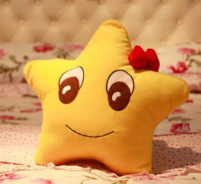 Игрушек! Супер милые плюшевые игрушки счастливые звезды подушка для влюбленных держа Подушка Желтый 1 шт - Цвет: boy style