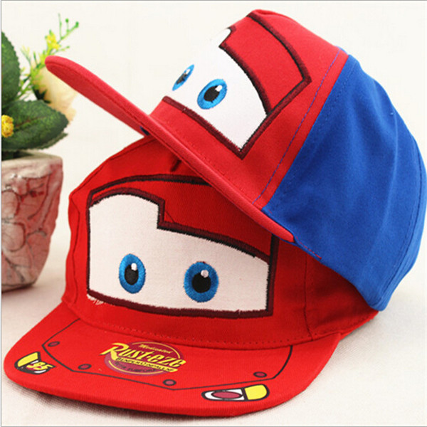 16f7a651f4d 2016 Fashion Lovey Cartoon Car Kids Baseball Cap Baby Boys Girls Adjustable  Flat Hat Children Snapback