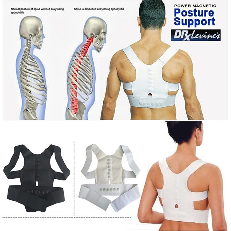 Adjustable Belt for Men Orthopedic Corset Lower Back Strap Support Belt Brace Shoulder Magnetic Posture Corrector Straight Belts