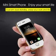 Dual SIM Dual Standby Smallest mini Smartphone SOYES6 6S Ultra thin 512m+4G Memory Pedometer Bluetooth Music GSM Mini Card Phone