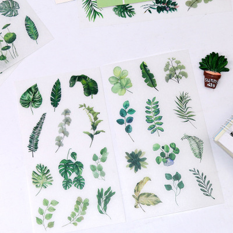6pcs/set Cute Green Leaf Sticker Stationery Sticker Personality Stickers Cute Clip Art Diary Decoration Stickers Art Supplies6pcs/set Cute Green Leaf Sticker Stationery Sticker Personality Stickers Cute Clip Art Diary Decoration Stickers Art Supplies