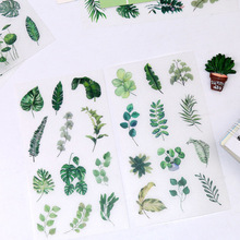 Stationery Sticker Art-Supplies Green Personality Cute Clip-Art 6pcs/Set