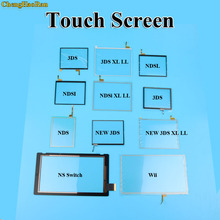 цена на 50pcs Wholesale For NS Switch Glass Touch screen panel Display digitizer for New 3DS LL XL Repair Parts For NDS NDSL NDSi XL LL